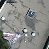 Antenna removal from the old KECG tower at El Cerrito High School, El Cerrito, California