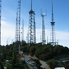 The view from 170 feet on the KPFK tower<br /> Mt Wilson, California