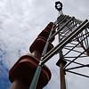 WMMT antenna system at Mayking Peak Tower, above Mayking, Kentucky