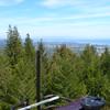 Top bay of the KZSC antenna system, with Santa Cruz below
