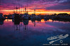 Fishing Fleet at Sunset