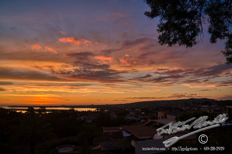 Sunset From Clairemont San Diego