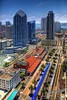 "San Diego, Santa Fe Train Station, One America Plaza, Advanced Equities Plaza, The Pinnacle Museum Tower, Manchester Grand Hyatt Seaport,  Harbor Club East, The Grande North at Santa Fe Place  <a href=""http://lenslord.com/2010/06/06/san-diego-overlooking-the-santa-fe-train-station/"">Link to the article on my blog</a>"