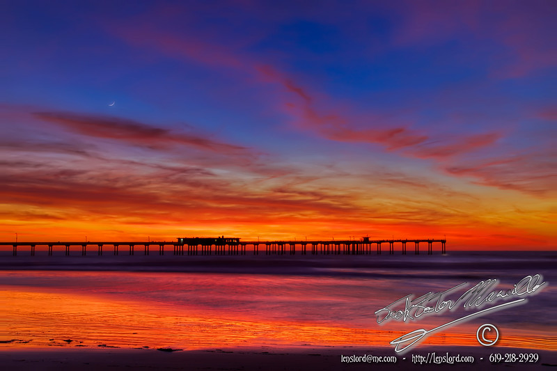 Ocean Beach Pier and The Crescent Moon<br /> by Jack Foster Mancilla - LensLord™<br /> _MG_0227