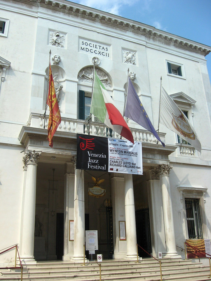 Gran Teatro La Fenice--and just my luck:  Wynton Marsalis and the Lincoln Center Jazz Orchestra was performing that night!