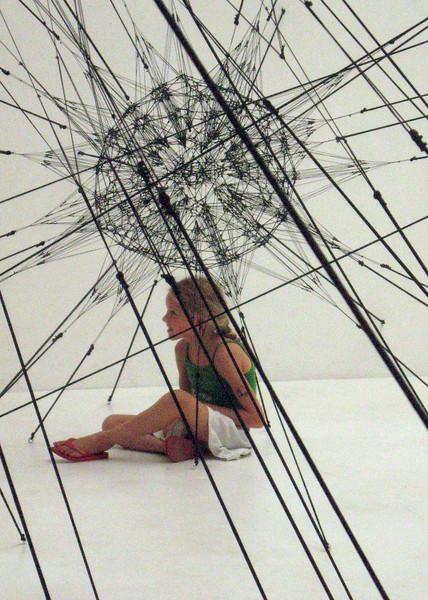 "Tomas Saraceno (Argentina), ""Galaxies Forming Along Filaments, like Droplets Along Strands of a Spider's Web,"" 2009"