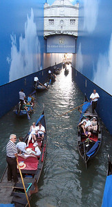 "A gondola jam ... just under the ""Bridge of Sighs"" (more on that later)."