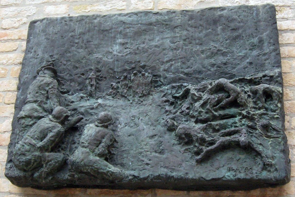 Bas relief memorials to the Holocaust.