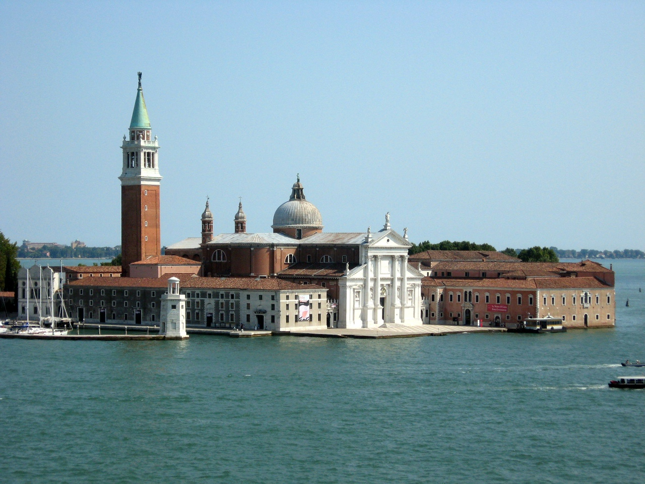 A view from the Palace, looking toward the small island of San Giorgio Maggiore--l. to rt., Panorama #2