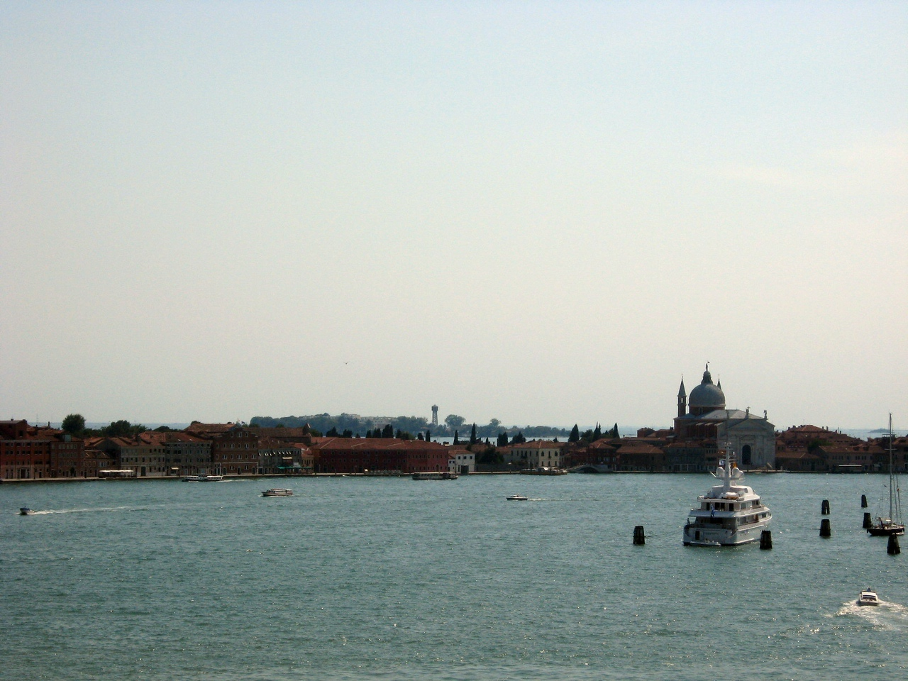 A view from the Palace, looking toward the small island of San Giorgio Maggiore--l. to rt., Panorama #6