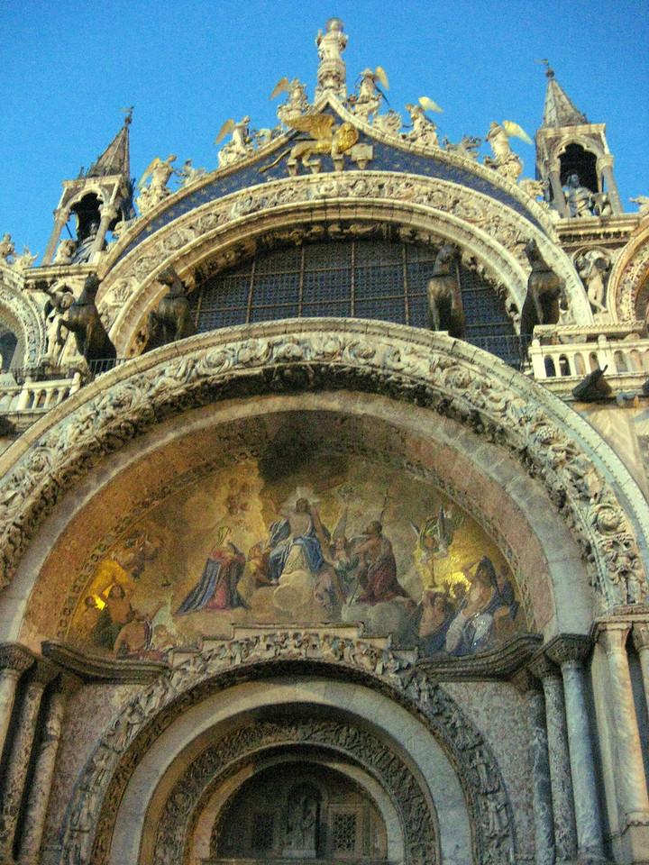 Exterior of the San Marco Basilica.