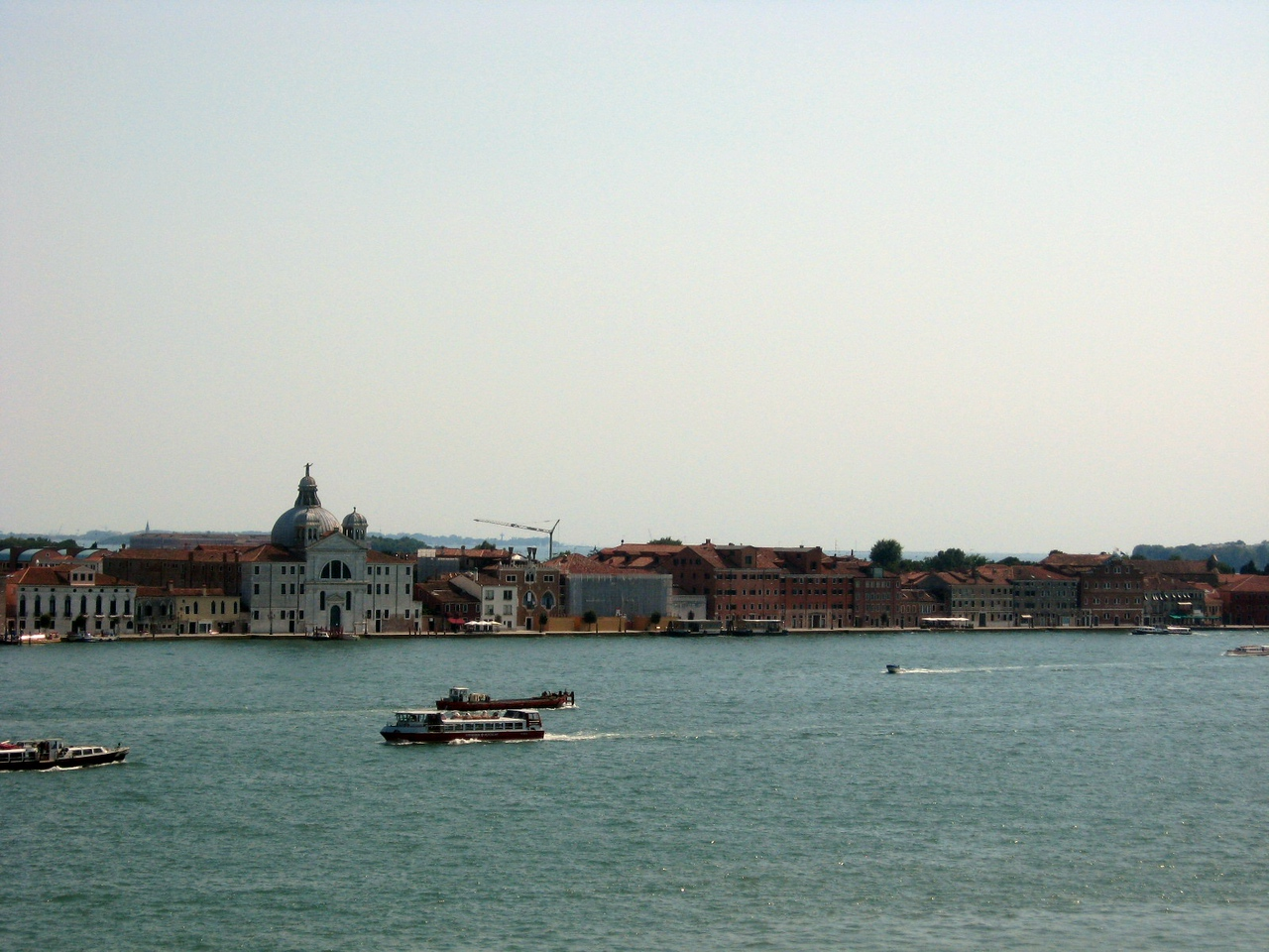 A view from the Palace, looking toward the small island of San Giorgio Maggiore--l. to rt., Panorama #5