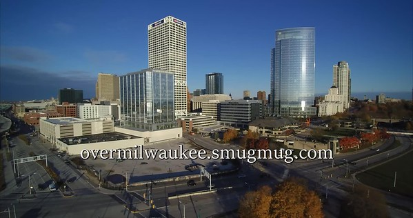 Drone Video MKE Post Office Couture Site Downtown Milwaukee 4K October 2018