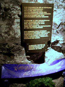 The Vienna Woods' underground lake - in memory of concentration camp prisoners forced to work in the chalk mines during WWII