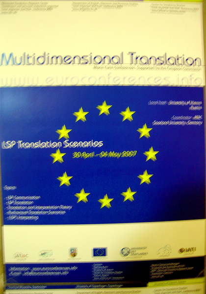 To work!  Multidimensional Translation - local host: University of Vienna (the other one)