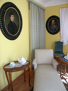 """A room within the Chapel - portraits of Emperor Franz Joseph and Empress Elisabeth """"Sisi"""""""