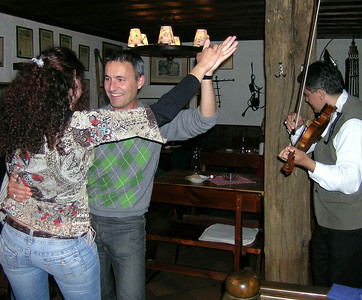 The Wiener Heurigen Show at the Wine Tavern Wolff - Jorge gets into the swing of things!