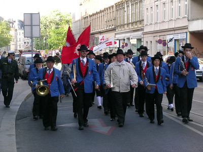 On my way to my presentation site (on Tuesday, May 1), I pass a May Day celebration!