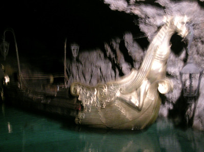 """The Vienna Woods' underground lake - left from """"The Three Musketeers"""""""