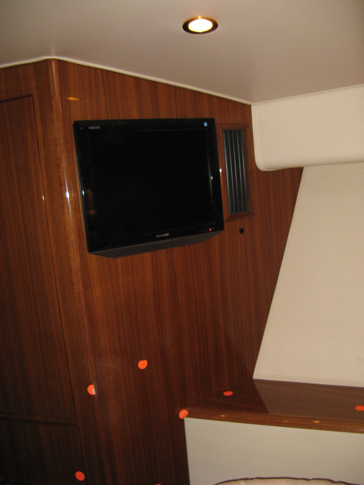 Question?<br /> Can we Mount the 12V Stereo/DVD center under the Television?