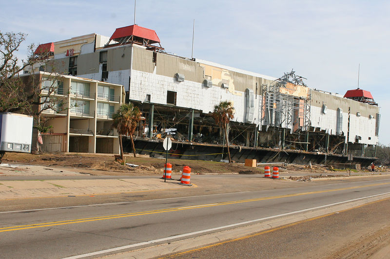 This is a photo of another floating casino in Gulfport, MS that washed up on the north side of Rt. 90.