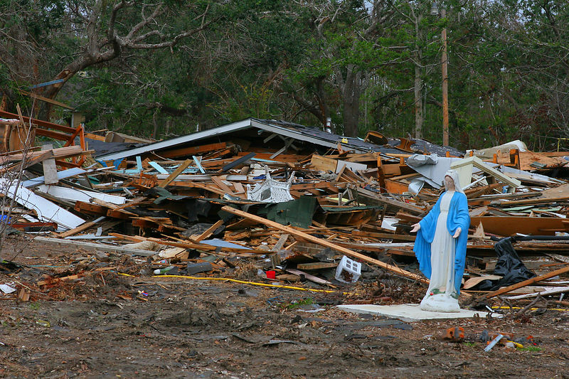 This is a moving picture of a leveled home in the Bay St. Louis, MS area