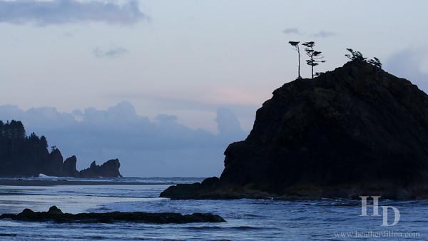 Olympic National Park, Washington. Coastline view from third beach.