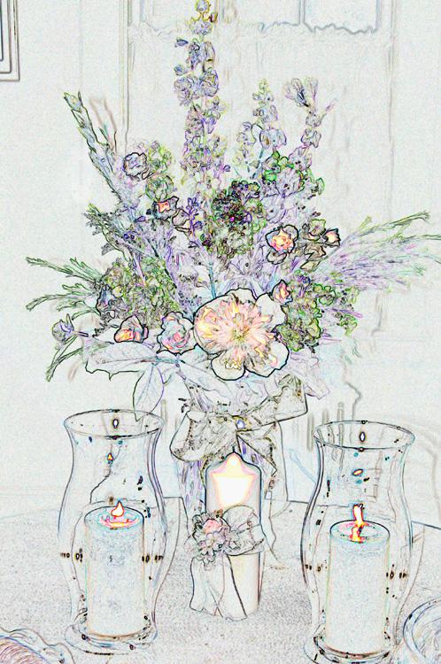 flowers w edges