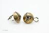 John Hardy Two Tone Round Earrings 1-9885