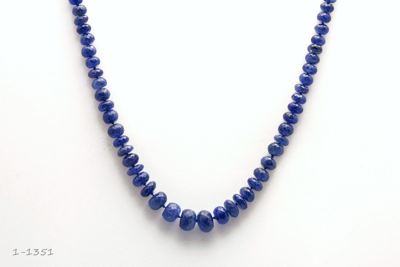 Sapphire Bead Necklace 1-1351