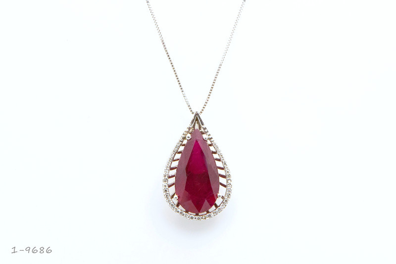 Ruby Diamond Pendant  1-9686