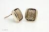 John Hardy Sterling Silver Square Weave Earrings 1-10599