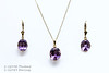 Oval Amethyst Basket with Chain Pendant 1-12990<br /> Oval Amethyst Basket Drop Earrings 1-12989