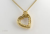 #0008 $2,700.00 18K Yellow Gold Heart Necklace by David Yurman.