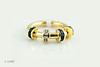 #0029  $1,800.00 18KT Yellow Gold Saph & DIA. Charles Krypell