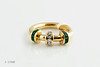 #0029  $1,800.00 18KT Yellow Gold EM & DIA. Charles Krypell