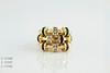 #0030  $1,800.00 each.  18KT Yellow Gold Ruby, SAPH, EM w/ DIA. Rings  Charles Krypell