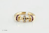 #0028  $1,800.00 18KT Yellow Gold Ruby & DIA. Charles Krypell