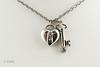 #0022 $2,900.00  Platinum Tiffany Key&Heart.