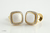 #0006 $2,550.00  18K Yellow Gold Yurman White Agate & DIA earrings.