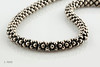 #0025  $850.00 Sterling Silver Lagos Designer Ball Necklace.