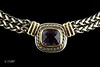 #0009 $1,750.00 Sterling Silver 14KT David Yurman Ameth Necklace.