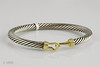 #0014  $499.00 14 KT Sterling Silver Bracelet.   David Yurman
