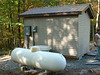 Transmitter building, generator and propane tank