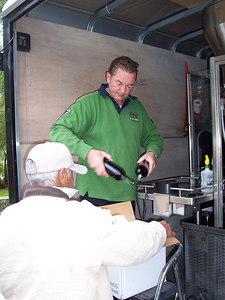 Ronald helps box up a batch of Reserve Zinfandel.