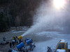 Start-of-season test run on all the snowguns. Here the M18, one of our biggest snow producers, shows how much snow it can put out.