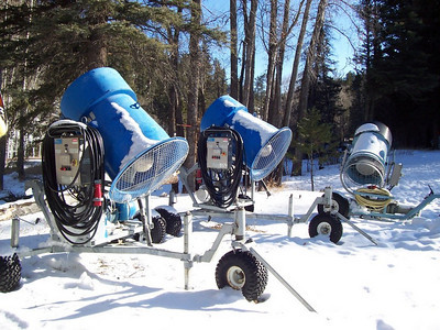 Some of the older Wizzard snow makers. They don't make  snow like the newer guns but are still very useful tools.