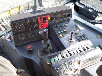 Cockpit of the Bombardier  Snowcat.