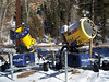 These wonderful snow making guns from TechnoAlpin make lots of snow and require little attention from the snow making crew.