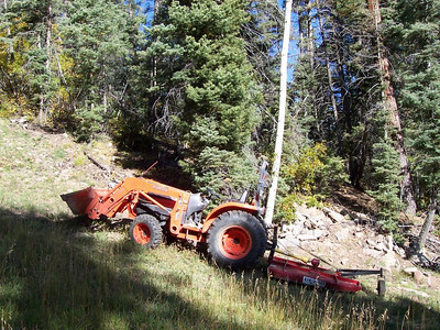 This 4x4 Kubota was used by Chris for mowing the slopes before the first snow.